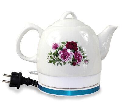 Elektrischer Wasserkocher 1L Blumen Teekanne Kettle kabellos