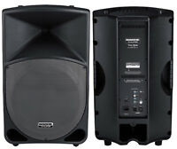 SPEAKERS AMPLIFIEES MACKIE THUMP TH15..MIXER BEHRINGER