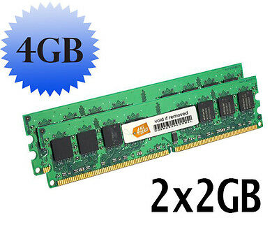 4GB (2x2GB) Memory RAM for eMachines EL1300G-02w Desktop