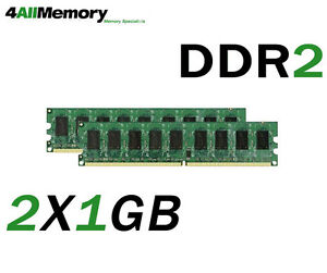 2GB Kit (2x1GB) Memory for Compaq HP Business Desktop dc5100, dc7600, dx7200