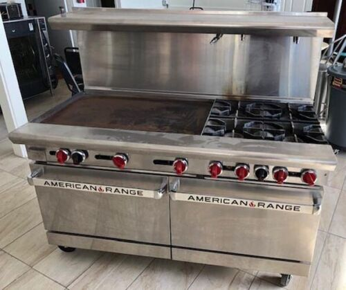"""American Range Ar36g-4b 4 Open Burners 36"""" Griddle 2 Ovens Year 2018 Very Nice!"""