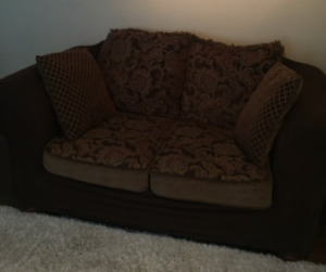 Love seat with pillows and seat cover. Make an offer!