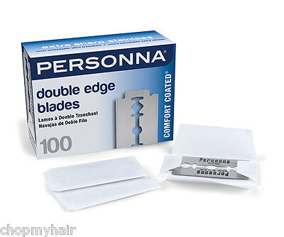 Personna Double Edge Breakable Stainless Steel Razor Blades 100pcs 60257 *NEW*