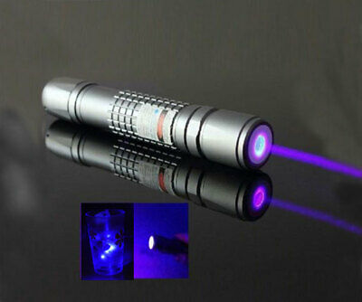 5mw High Power Blue Purple Laser Pointer Burning Light Beam Pen Charger New