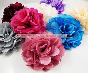 U-Pic-Silk-Flower-Brooch-Hair-Pins-Clips-Accessory-New