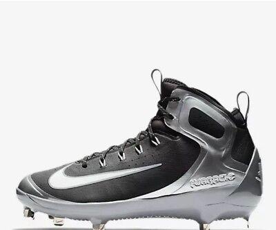 9b66881857e5 Men s Nike Alpha Huarache Elite Baseball Cleat-Wolf Grey White-Black-Size
