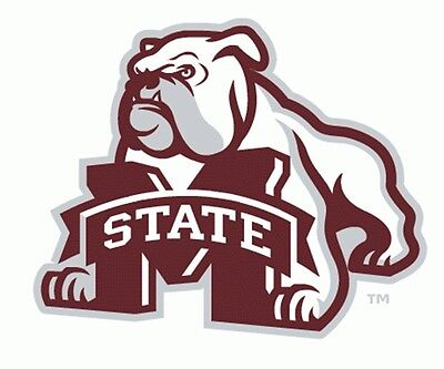 MSU MISSISSIPPI STATE Large Bulldog Cornhole Decals / Set of - Mississippi State Bulldog