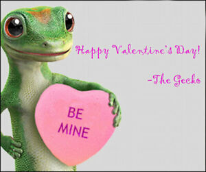 Happy Valentine's Day from 1001 Geckos!