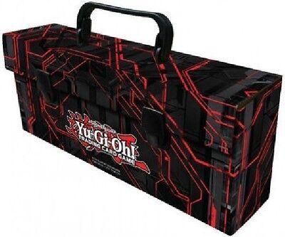 Yugioh Card Storage Carrying Case Triple Deck Box Lunchbox Black & Red Zexal Art