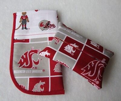 Cougars Glass (NEW Washington State Cougars Mascot Fabric Tissue Holder & Glasses Case Gift)