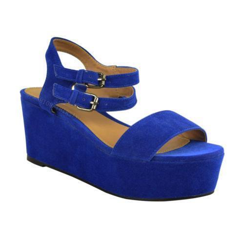 Royal Blue Bamboo Platform Shoes