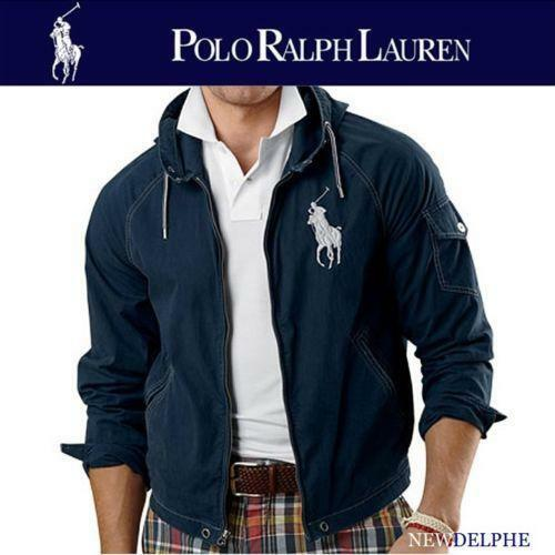 Ralph Lauren Red Big Pony Classic Leisure Navy White Stripe Polo