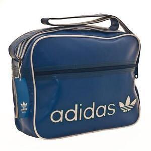 blue adidas man bag