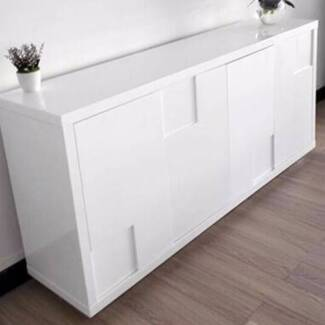 high gloss white modern sideboard buffet cabinet hall table cabinets gumtree australia bankstown area revesby 1124155617 - White Buffet