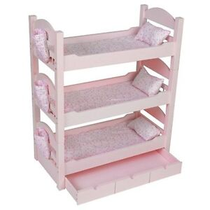 Triple Bunk Beds Trundle★sleeps 4★18 034 Dolls Our