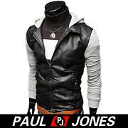 Grey Leather Jacket Men