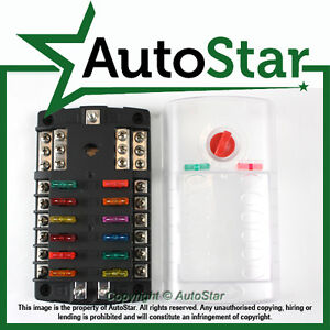 diagram of fuse box for 2009 ford f 150 fx4 fan fuses 12 way blade fuse box bus bar kit car boat marine fusebox ... blade fuse box for boats