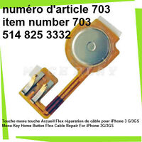 Menu Key Home Button Flex Cable Repair For iPhone 3G/3GS