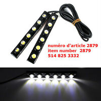 2X  6 LED DRL Driving Daytime Running Light Bar Soft Head Bulb