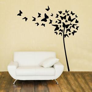 ... su 00459 Wall Stickers Adesivi Murali Soffione di farfalle 94x100 cm