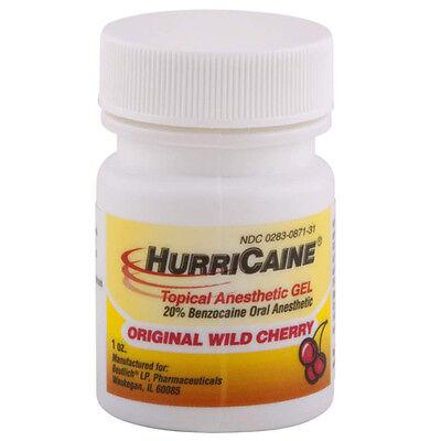 HURRICAINE TOPICAL ORAL ANESTHETIC GEL 1oz WILD CHERRY HURRICANE