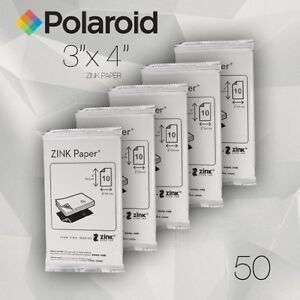 Polaroid ZINK Media 3x4 inch Photo Paper for Z340 Camera & GL10 Printer -Pack 50