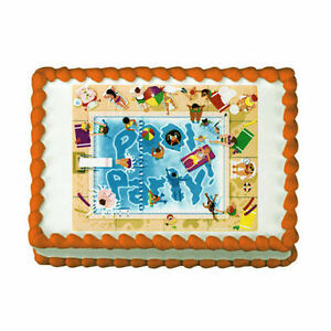 Swimming Pool Party Edible Image Cake Topper Beach Summer Decoration Ebay