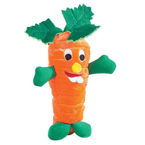Zanies - Giggling Veggies - Plush Dog Puppy Toy - Carrot - 9