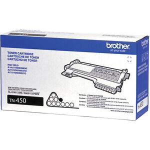 Genuine OEM Brother TN-450 TN450 Black Toner Cartridge    012502626770