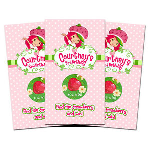 10-STRAWBERRY-SHORTCAKE-Personalized-Party-Favors-SCRATCH-OFF-GAMES