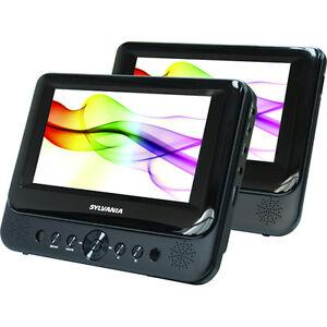 Sylvania-SDVD8706-7-Dual-screen-Portable-DVD-Player-Factory-Re-Certified