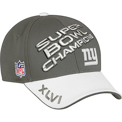 York Giants Locker Room Hat Cap Super Bowl 46 Champions
