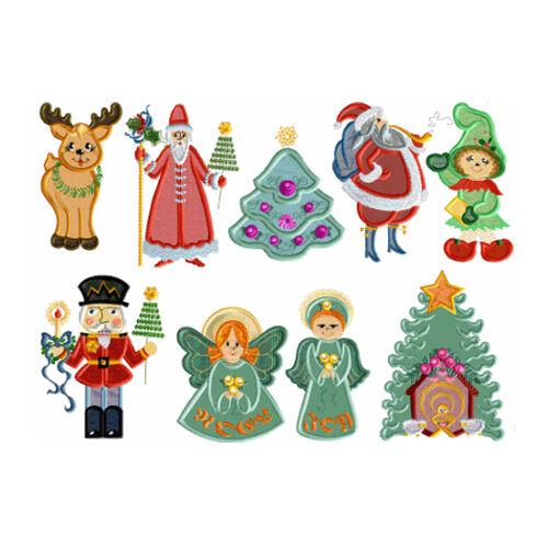 Abc Designs Christmas Applique Machine Embroidery Designs Set For 5 X 7 Hoop