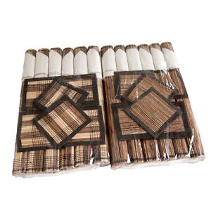 Set of 6 Palm Placemats and Coasters