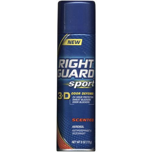 Right Guard Sport Aerosol Antiperspirant Deodorant  Scented 6 oz-6 pack