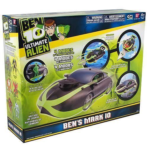 Ben 10 Ultimate Alien__ben's Mark 10 Deluxe 4 In 1 Vehicle With Exclusive Figure