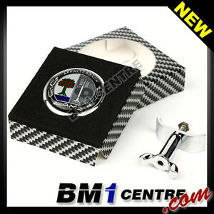01 MERCEDES BENZ 45MM FLAT HOOD BONNET EMBLEM BADGE C E S CLK CLASS AMG PARTS