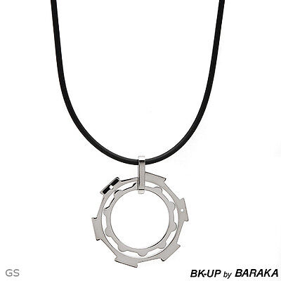 Bk-up By Baraka Made In Italy Brand Necklace In Stainless Steel.