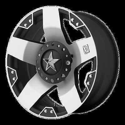 "18"" WHEELS RIMS XD ROCKSTAR MACHINED 5X5.5/150 /325/65/18 NITTO TERRA GRAPPLER"