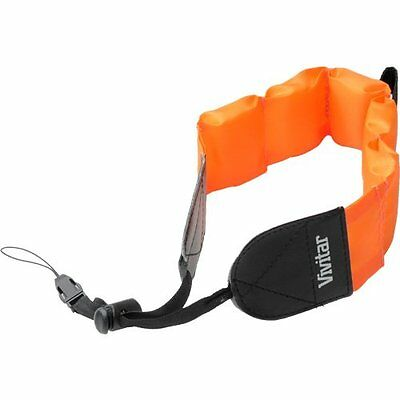 Orange Vivitar Floating Foam Strap For Olympus Stylus Tough 3000