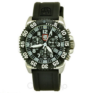 Luminox NAVY SEAL COLORMARK Chrono 3181 | Black Rubber | 44mm | 200M | NEW