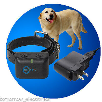 NEW Waterproof Rechargeable MEDIUM LARGE ANTI BARK NO BARKING DOG SHOCK COLLAR on Rummage