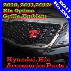 T-Turbo-GDI-Lettering-Radiator-Grille-Emblem-For-2010-2011-2012-Kia-Optima-K5