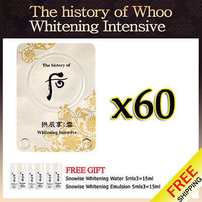 The History of Whoo Whitening Intensive 60pcs NEW + FREE GIFT sulwhasoo LG care on Rummage
