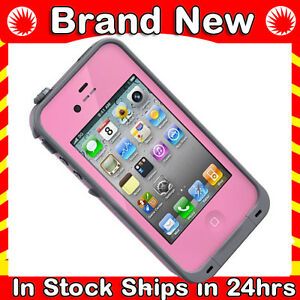 Pink-Lifeproof-Apple-iPhone-4-4S-Case-Life-Proof-2nd-Generation-2-Waterproof-New