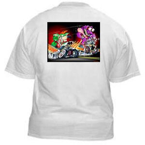 Kurbside-Kustoms-Hot-Rod-T-Shirt-JP-55-RAT-RACE-Kulture-Cartoon-Monster-Art