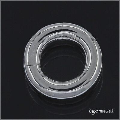 5x Sterling Silver Pearl Shortener Enhancer Push Click Cl...