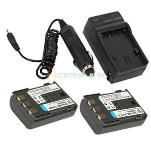2x NB-2LH Battery + Charger for Canon VIXIA HF R10 R100 R11 HG10 HV20 HV30