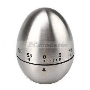 New-Stainless-Steel-Egg-Shape-Kitchen-Timer-60-Minute
