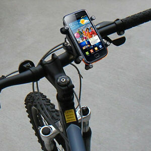 Smart phone on bicycle handlebars